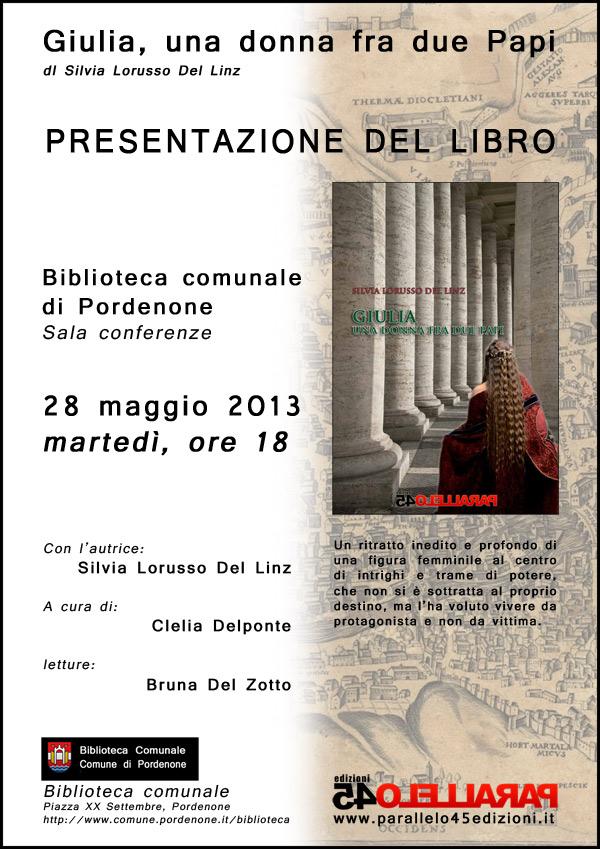 Giulia alla biblioteca Pordenone