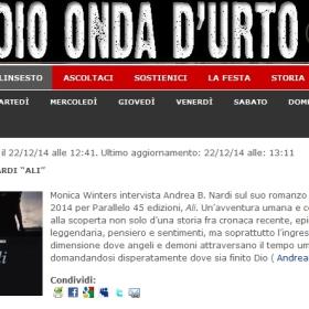"""Andrea Nardi intervistato su Radio Onda d'Urto, presenta il suo romanzo """"Ali"""""""