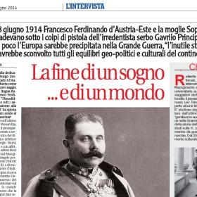 L'attentato a Francesco Ferdinando, il libro e l'intervista